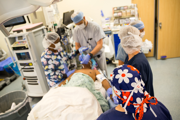 surgery with anesthesia