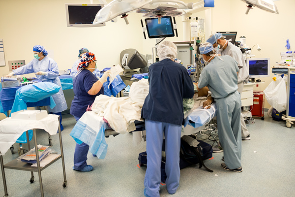 surgery in the operating room